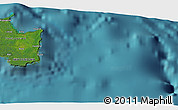 """Satellite 3D Map of the area around 21°33'19""""S,168°22'30""""E"""