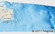 """Shaded Relief 3D Map of the area around 21°33'19""""S,168°22'30""""E"""