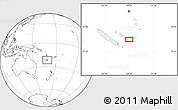 """Blank Location Map of the area around 21°33'19""""S,168°22'30""""E"""