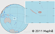 """Gray Location Map of the area around 21°33'19""""S,168°22'30""""E"""