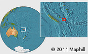 "Satellite Location Map of the area around 21°33'19""S,168°22'30""E"