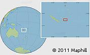 "Savanna Style Location Map of the area around 21°33'19""S,168°22'30""E"