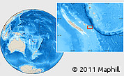 """Shaded Relief Location Map of the area around 21°33'19""""S,168°22'30""""E"""