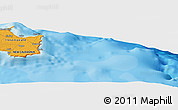 """Political Panoramic Map of the area around 21°33'19""""S,168°22'30""""E"""