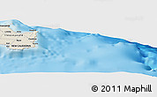 """Shaded Relief Panoramic Map of the area around 21°33'19""""S,168°22'30""""E"""