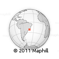 """Outline Map of the Area around 21° 33' 19"""" S, 42° 25' 29"""" W, rectangular outline"""