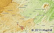 """Physical Map of the area around 21°33'19""""S,43°16'29""""W"""