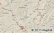 """Shaded Relief Map of the area around 21°33'19""""S,43°16'29""""W"""