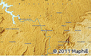 """Physical Map of the area around 21°33'19""""S,44°7'30""""W"""
