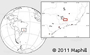 """Blank Location Map of the area around 21°33'19""""S,44°58'30""""W"""