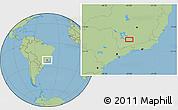 "Savanna Style Location Map of the area around 21°33'19""S,44°58'30""W"
