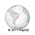 """Outline Map of the Area around 21° 33' 19"""" S, 44° 58' 30"""" W, rectangular outline"""