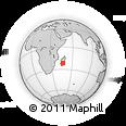 Outline Map of Tambohobe, rectangular outline