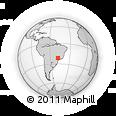 Outline Map of Araraquara, rectangular outline