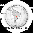 Outline Map of Pôrto Murtinho, rectangular outline