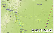 """Physical Map of the area around 21°33'19""""S,62°49'30""""W"""