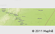 """Physical Panoramic Map of the area around 21°33'19""""S,62°49'30""""W"""
