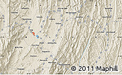 Shaded Relief Map of Tarija