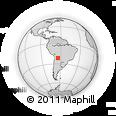 Outline Map of Tarija, rectangular outline