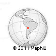 """Outline Map of the Area around 21° 33' 19"""" S, 66° 13' 29"""" W, rectangular outline"""