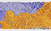 """Political 3D Map of the area around 22°23'25""""N,102°4'29""""E"""