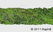 Satellite Panoramic Map of Bản Houei Hang