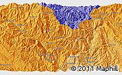Political 3D Map of Bản Nam Bac