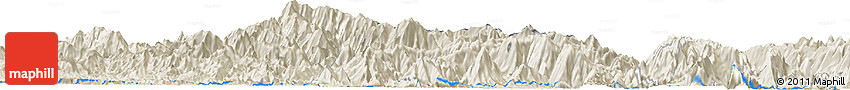 Shaded Relief Horizon Map of Bản Chêng Chăn