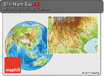 Physical Location Map of Bản Nam Bac