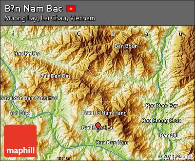 Physical Map of Bản Nam Bac