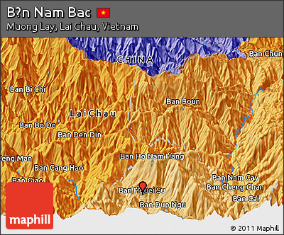 Political Panoramic Map of Bản Nam Bac