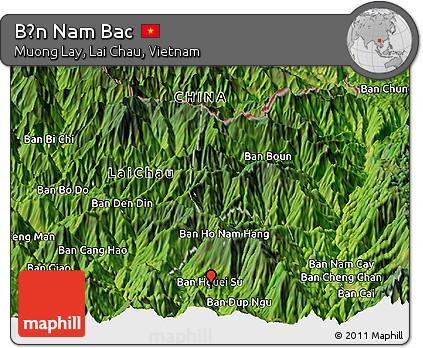 Satellite Panoramic Map of Bản Nam Bac