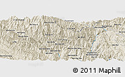 Shaded Relief Panoramic Map of Bản Nằm Nga