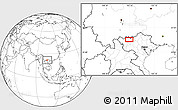 """Blank Location Map of the area around 22°23'25""""N,103°46'30""""E"""