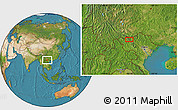 """Satellite Location Map of the area around 22°23'25""""N,103°46'30""""E"""
