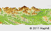 """Physical Panoramic Map of the area around 22°23'25""""N,104°37'30""""E"""