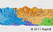 """Political Panoramic Map of the area around 22°23'25""""N,104°37'30""""E"""