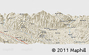 """Shaded Relief Panoramic Map of the area around 22°23'25""""N,104°37'30""""E"""