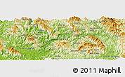 Physical Panoramic Map of Bản Co
