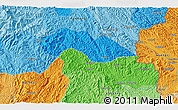 Political 3D Map of Sằng Kheo