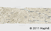 Shaded Relief Panoramic Map of Bản Ca