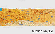 Political Panoramic Map of Lincun