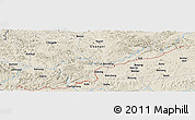 Shaded Relief Panoramic Map of Bunong