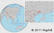 Gray Location Map of Anli