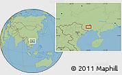 Savanna Style Location Map of Anli
