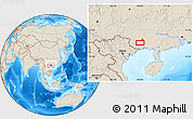 Shaded Relief Location Map of Anli