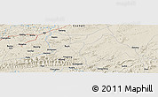 Shaded Relief Panoramic Map of Anli
