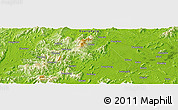 """Physical Panoramic Map of the area around 22°23'25""""N,112°16'30""""E"""