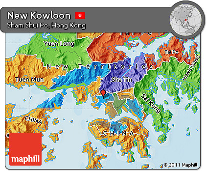 Free Political Map of New Kowloon