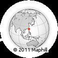 Outline Map of Lambai Island, rectangular outline